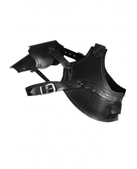 Protecteur de poitrine en cuir noir