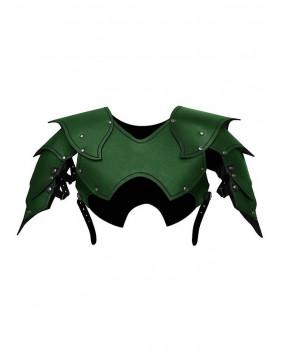 Epaules seigneur de guerre cuir vert