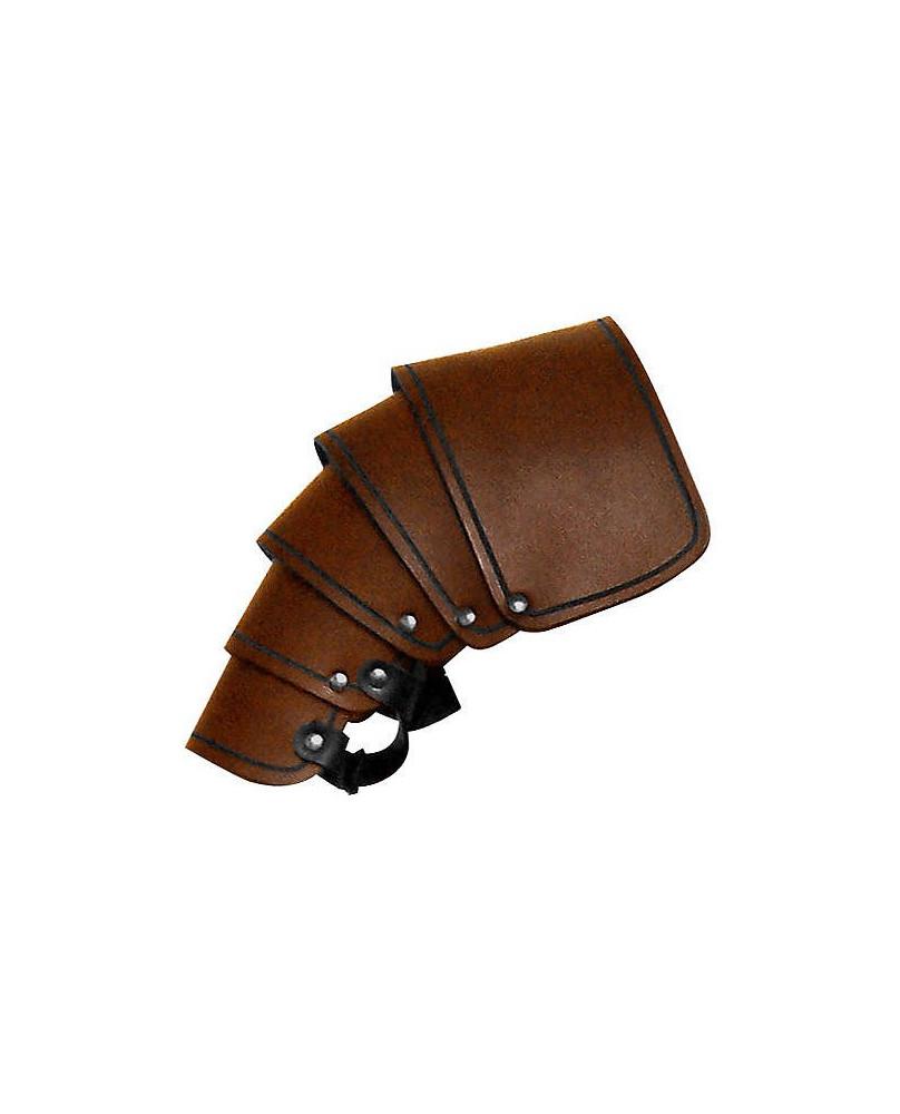 Protége épaule en cuir marron