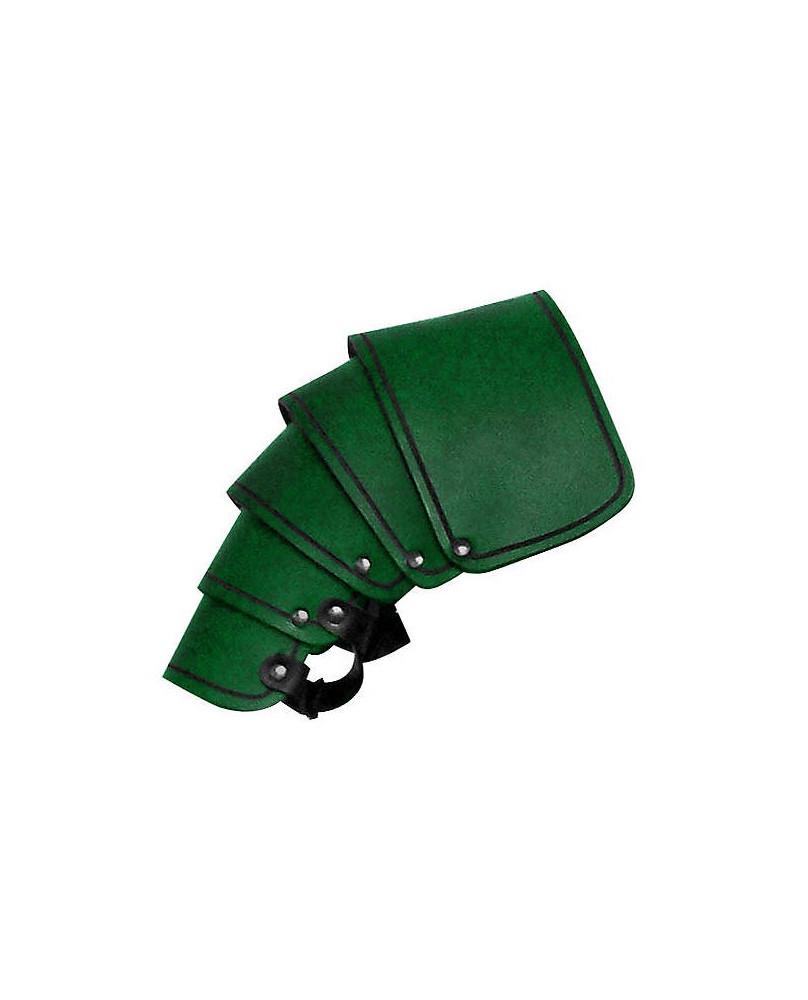 Protége épaule en cuir vert