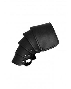 Protége épaule en cuir noir