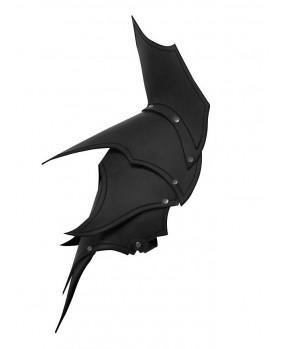 Epaulières elfe noir en cuir noir