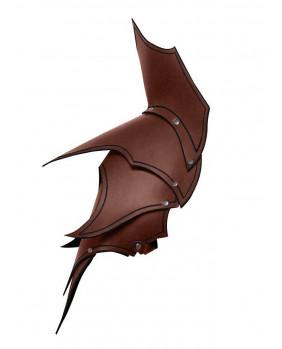 Epaulières Dunkelelf elfe noir en cuir marron
