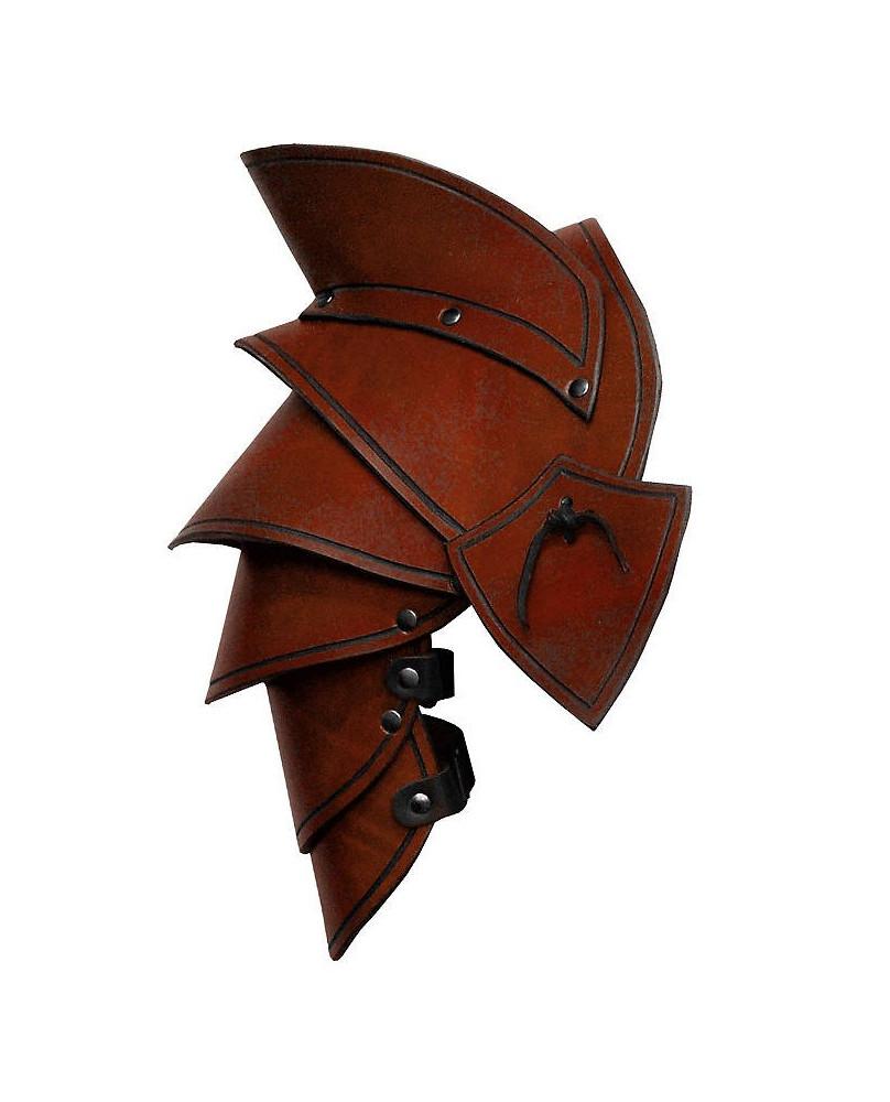 Epaulières Elven LARP en cuir marron