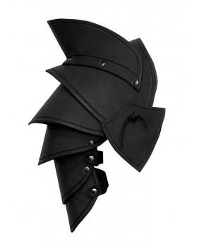 Epaulières Elven LARP en cuir noir