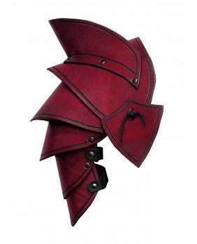 Epaulières Elven LARP en cuir rouge