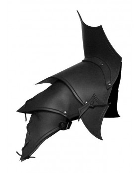 Protége épaules Démon en cuir noir