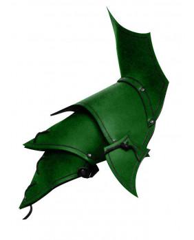 Protége épaules Démon en cuir vert