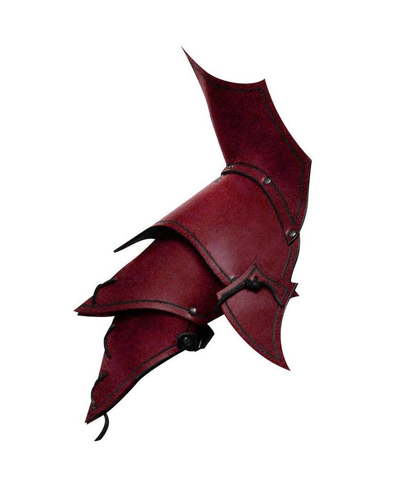 Protége épaules Démon en cuir rouge