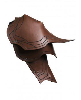 Epaulières Ranger en cuir marron