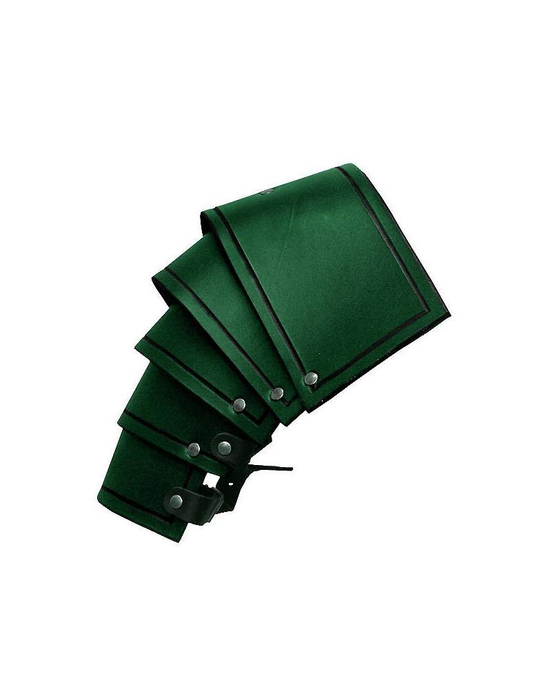Epaulières fantassin en cuir vert