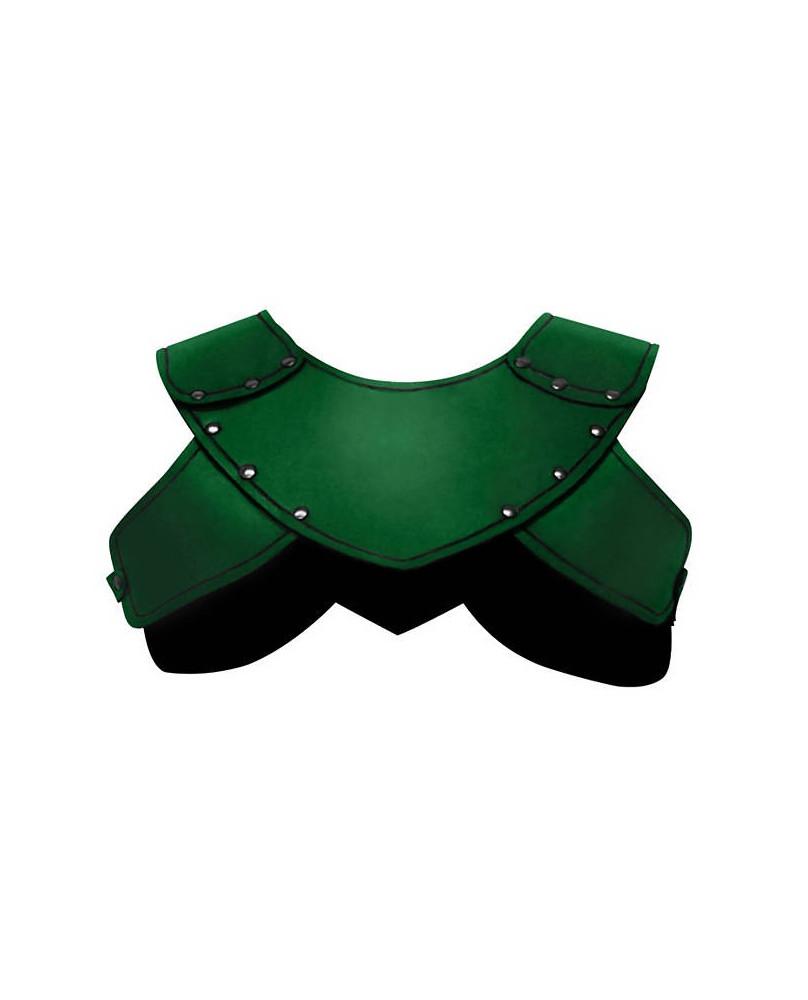 Protection épaules en cuir vert