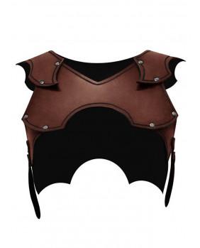 Protection épaules femme en cuir marron