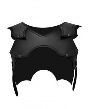 Protection épaules femme en cuir noir