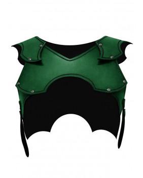 Protection épaules femme en cuir vert