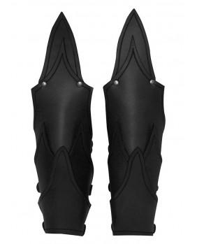 Brassards elfe noir cuir noir