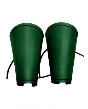 Brassards en cuir vert