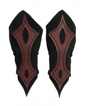 Brassards archer en cuir noir et marron
