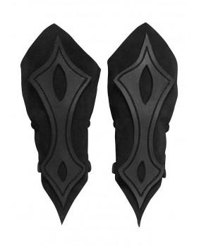 Brassards archer en cuir noir