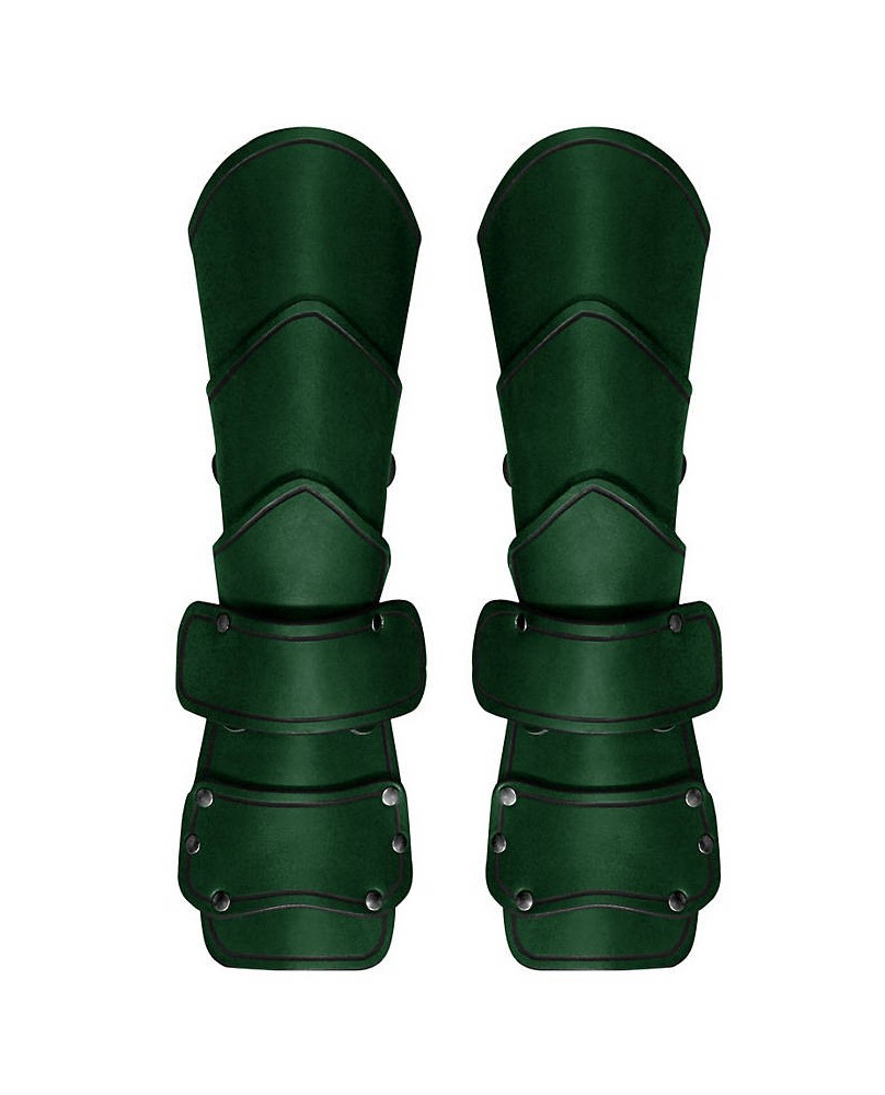 Brassards médiévals cuir vert