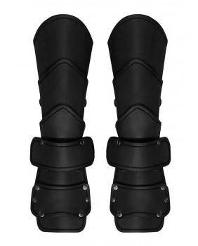 Brassards médiévals cuir noir
