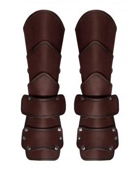 Brassards médiévals cuir marron