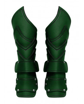 Brassards chef de guerre en cuir vert