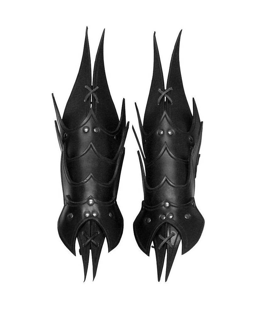 Brassards Démon en cuir noir