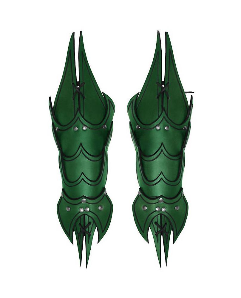 Brassards Démon en cuir vert