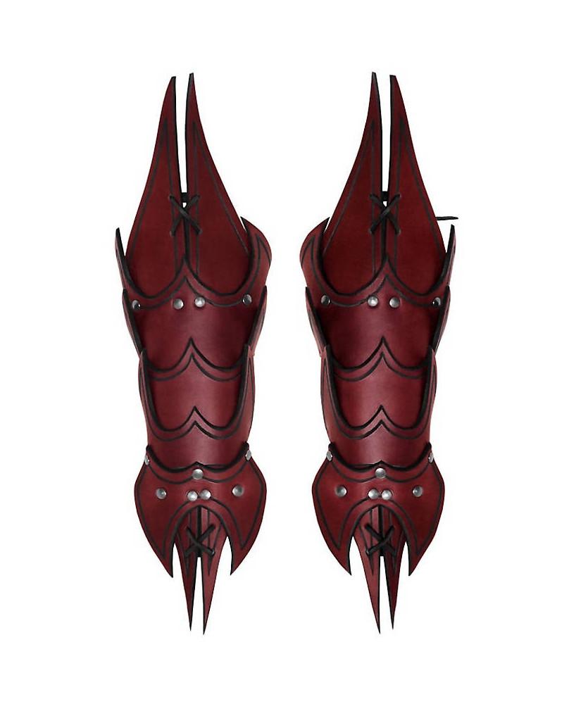 Brassards Démon en cuir rouge