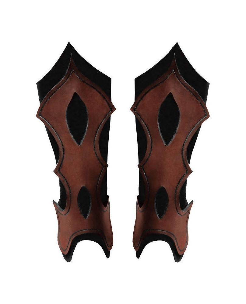 Jambières archer en cuir marron