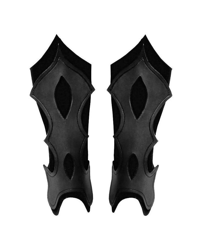 Jambières archer en cuir noir