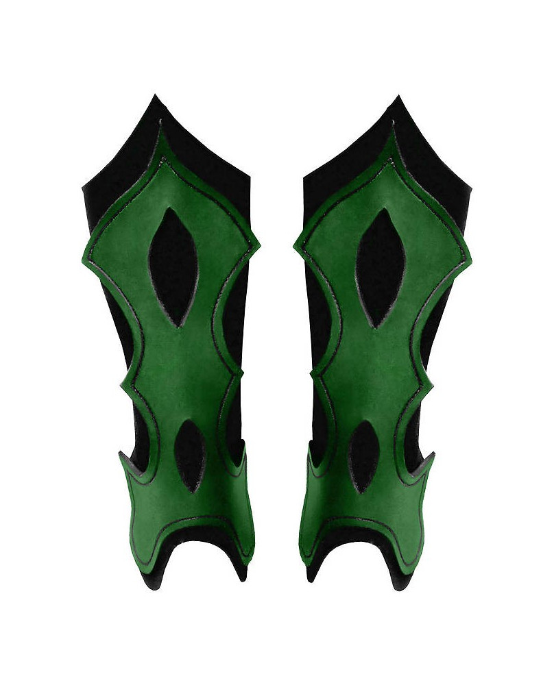 Jambières archer en cuir vert
