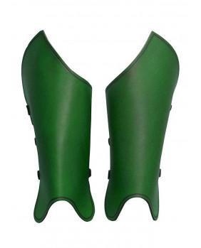 Jambières bandit en cuir vert