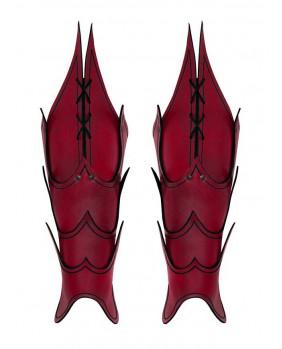 Jambières rouges Démon en cuir