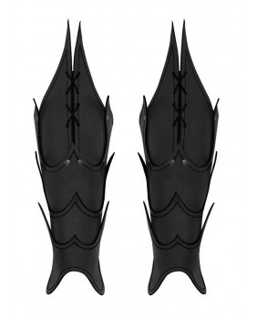 Jambières noires Démon en cuir