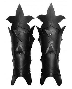 Jambières Waldelfe en cuir noir