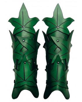 Jambières Waldelfe en cuir vert