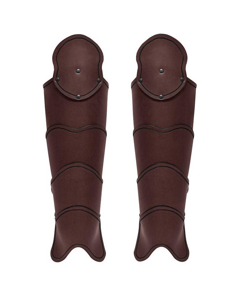 Jambiéres médiévales en cuir marron
