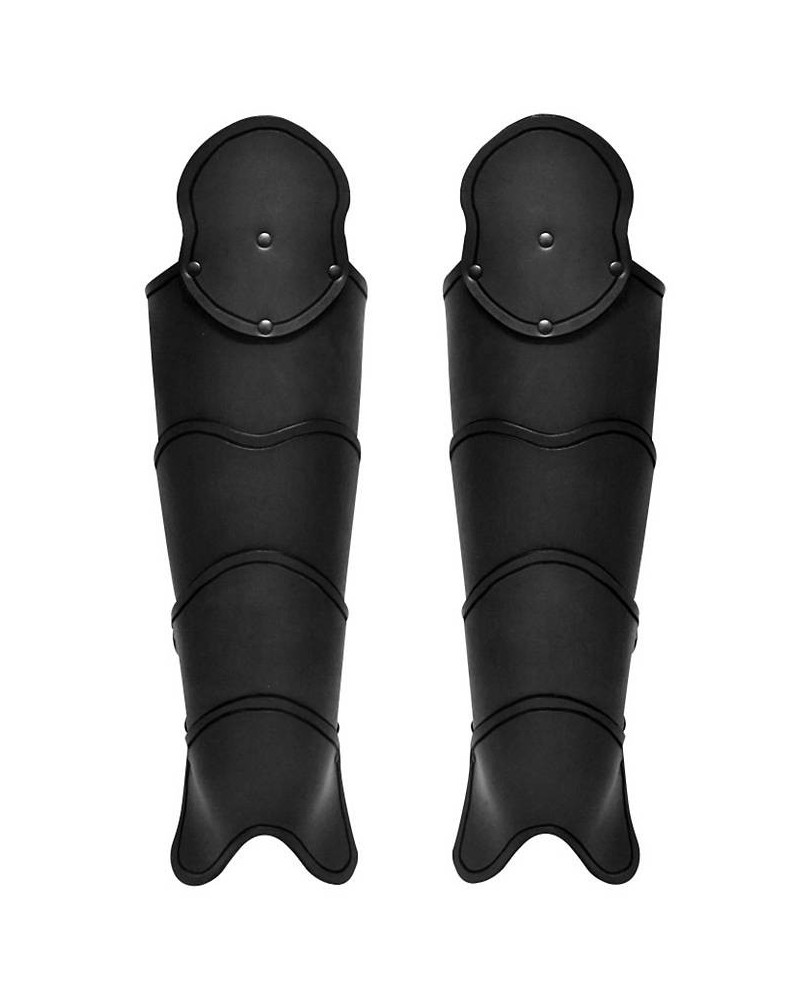 Jambiéres médiévales en cuir noir