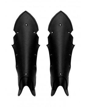 Jambières gothiques en cuir noir
