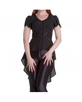 Blouse gothique noire Spin Doctor Ayla