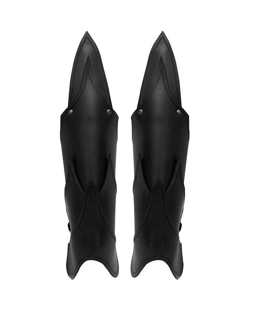 Jambières elfe noir cuir noir