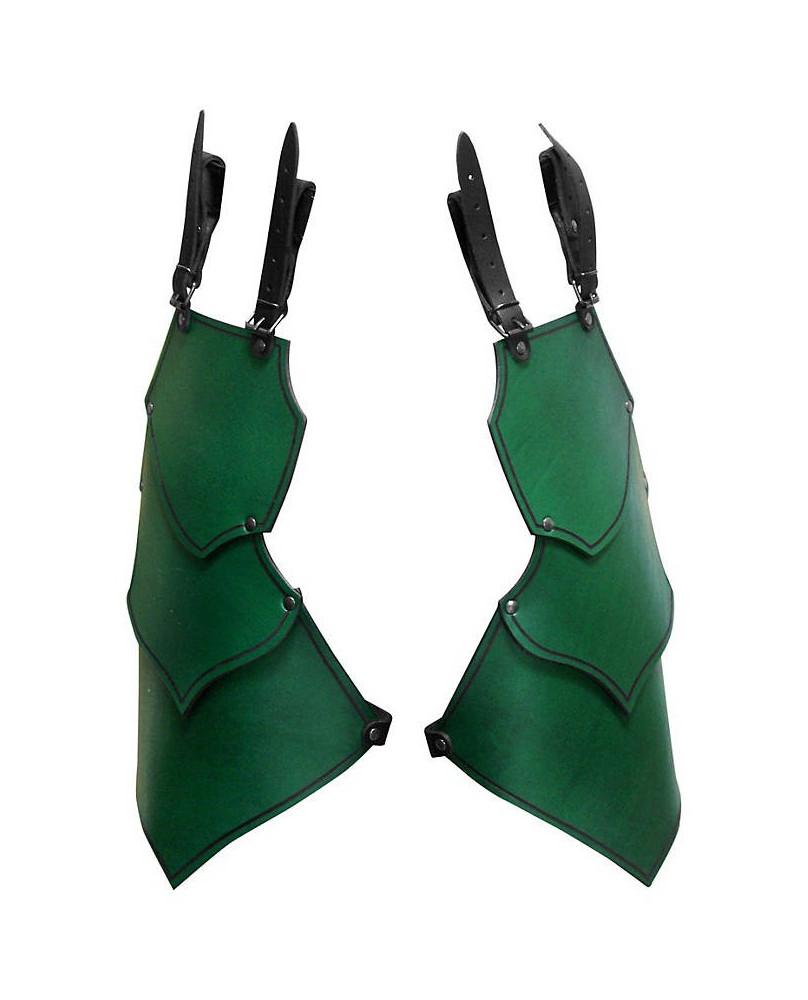 Protection de cuisse en cuir vert