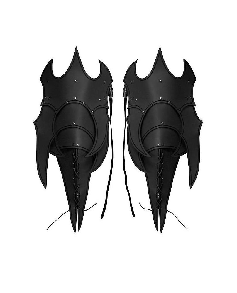 Poches de jambe en cuir noir