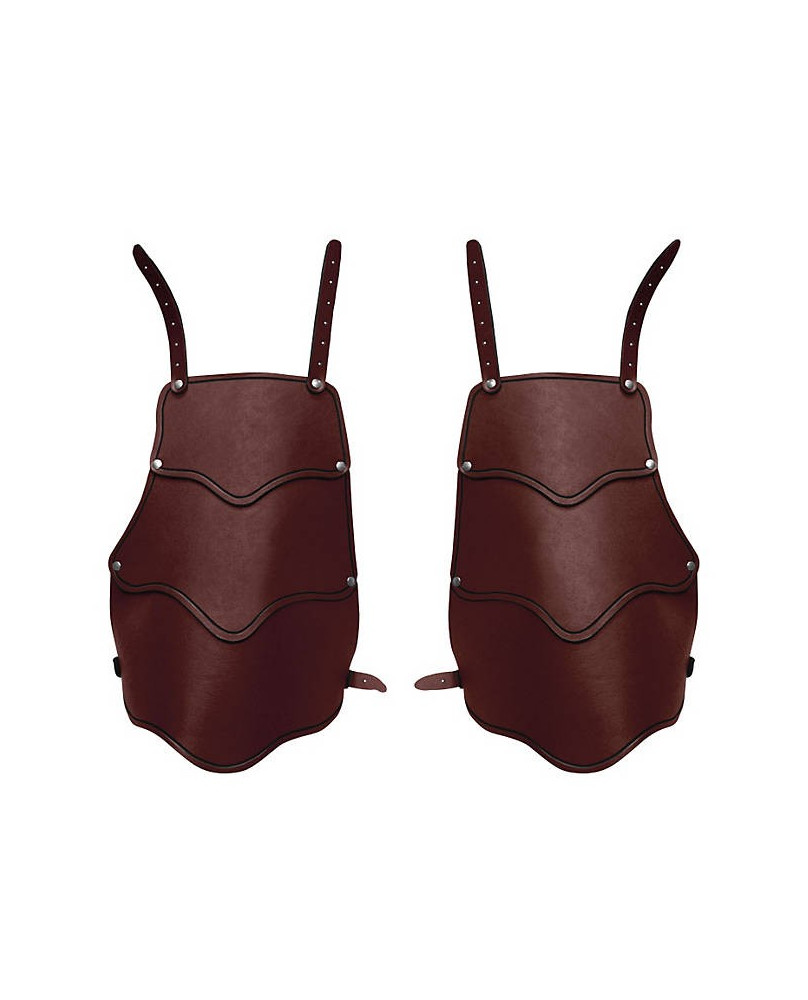 Protège cuisse médiévale en cuir marron