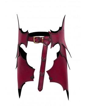 Tassettes elfe Dunkelelf en cuir rouge