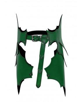 Tassettes elfe Dunkelelf en cuir vert