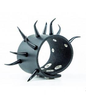 Bracelet cuir cornes noires