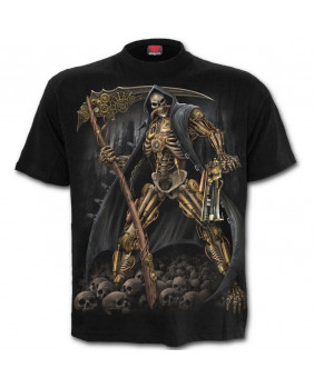 Tee shirt métal steampunk Skeleton